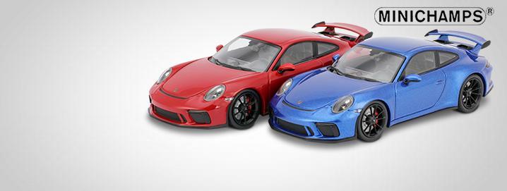modelos especiais Porsche 911 GT3  1:43 Minichamps