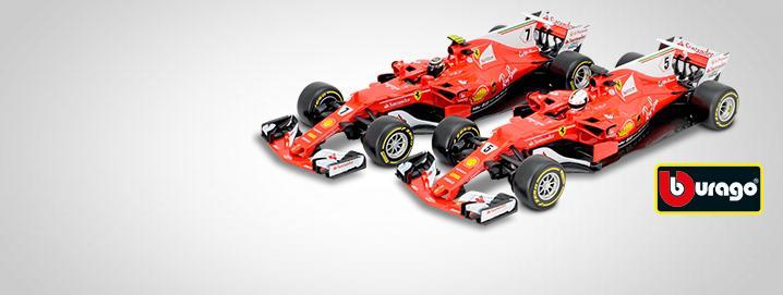 Formula 1 2017 Vettel & Raikkonen  Formula 1 2017 1:18 Bburago