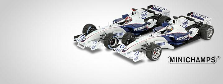 new hits Vettel & Kubica  BMW Sauber C24B  1:18 Minichamps