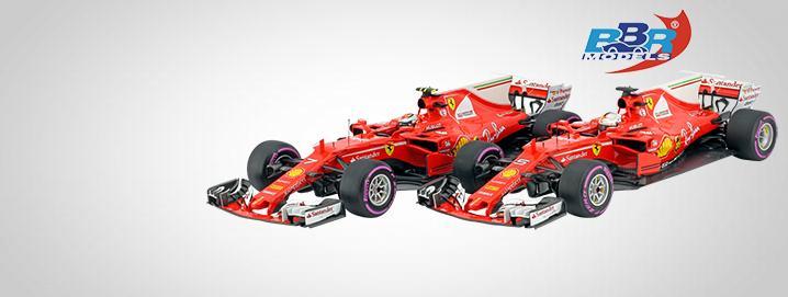 BBR stampa Vettel & Räikkönen Ferrari di Formula 1 2017