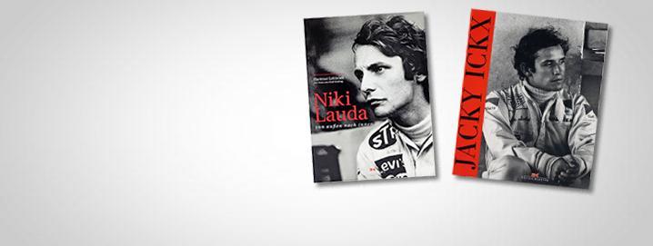 Books SALE %% Lauda & Ickx biography  on sale