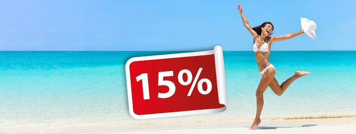 Summersale extended! 15% on your order in
