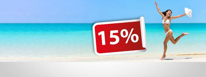 Summersale 15% na sua encomenda  na loja!