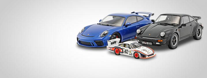 Porsche modelcars We offer high-quality Porsche model cars in the scales 1:43  and 1:18 at reasonable prices.  Preisen an.