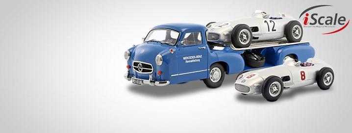 Blue Wonder Mercedes-Benz Blue Wonder racetransporter & lading W196