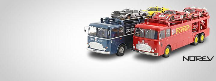 Caminhão Bartoletti Transportador de carros de  corrida Bartoletti escala  1:18 de Norev