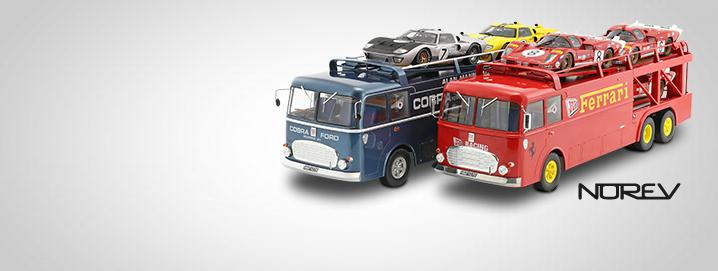 Camion Bartoletti Transporte de autos de carrera Bartoletti  escala 1:18 de Norev