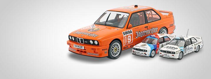 Legendas do DTM BMW M3 E30 nas escalas  1:18 e 1:43