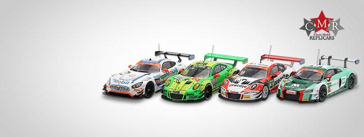 Veículos CMR GT Carros de corrida de ADAC GT Masters e 24h Nürburgring na escala 1:43