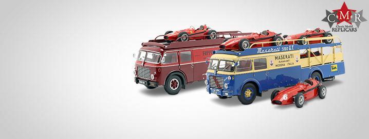 Nouveauté: Bartoletti Truck Fiat 642 RN2 Bartoletti  Maserati et camion Ferrari  avec charge appropriée