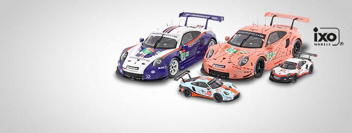 Lo destacado de Porsche Porsche 911 RSR en  escalas 1:43 y 1:18