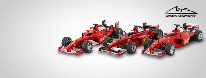 Ferrari-geschiedenis Michael Schumacher  Ferrari-modellen nu beschikbaar